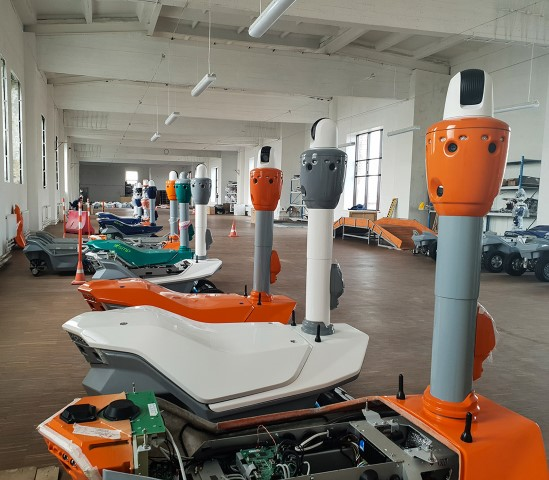 manufacturing facility security robot in USA