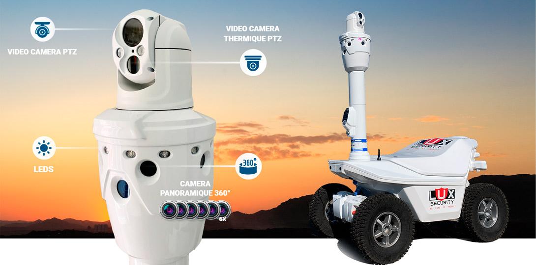 Robot de sécurité à double<br>spectre d'imagerie thermique
